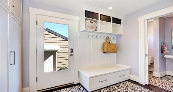 Declutter your home – Room storage ideas for the bathroom, laundry room, staircase and front hall.
